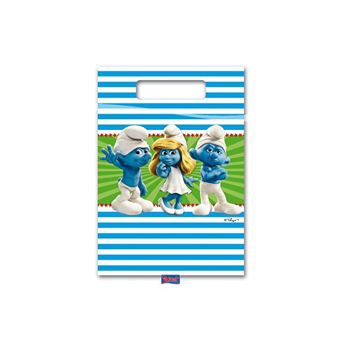 The Smurfs Party Bags for Children's Birthday Party Pack of 8 (New)
