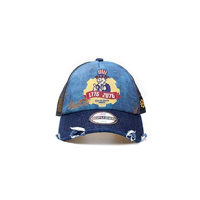 Fallout Vault 76 Vintage Trucker Cap Baseball Blue, One (Size:One Size) (New)