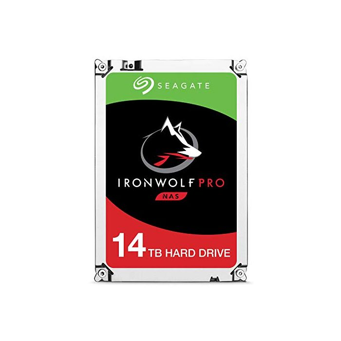 Seagate 14 TB IronWolf Pro 3.5 Inch Internal Hard Drive for 1-24 Bay NAS Systems (7200 RPM, 256 MB Cache, up to 210 MB/s, 300 TB/Year Workload Rate) (New)
