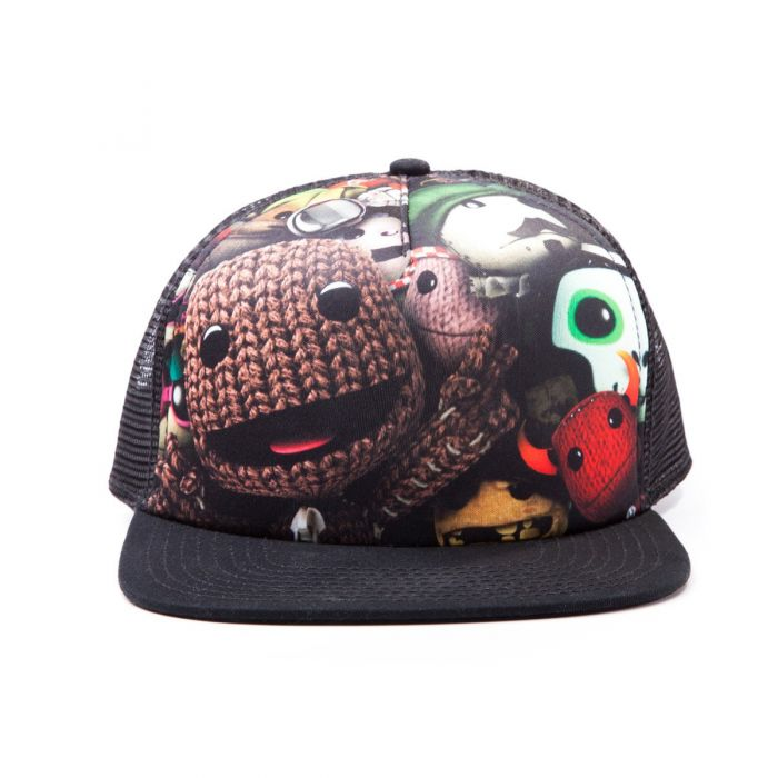 LittleBigPlanet Trucker Snapback Baseball Cap with Sublimation Print (Black) (New)