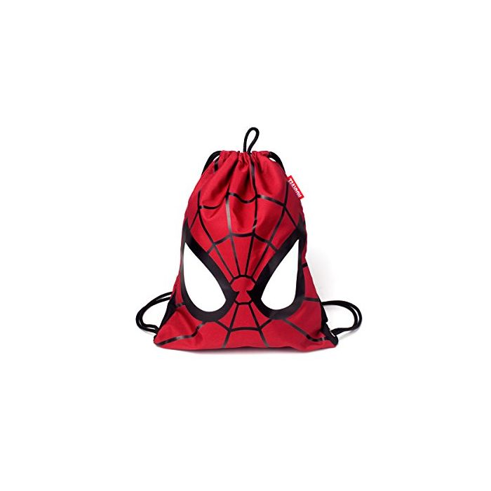Spiderman Marvel Comics Spider-Man Mask Gymbag, Unisex, Black (Ci768666Mvl) Kid's Sports Bag, 44 cm, Red (New)