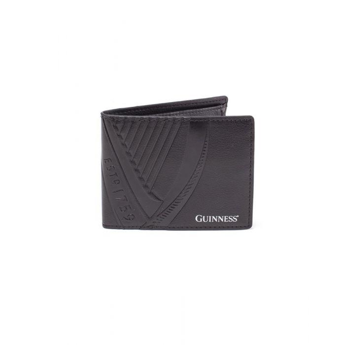 Guinness Wallet Embossed PU Bifold Black (New)