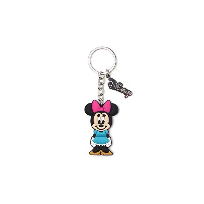 Mickey Mouse Keychains Disney - Minnie Mouse Rubber Keychain Multicolor (New)