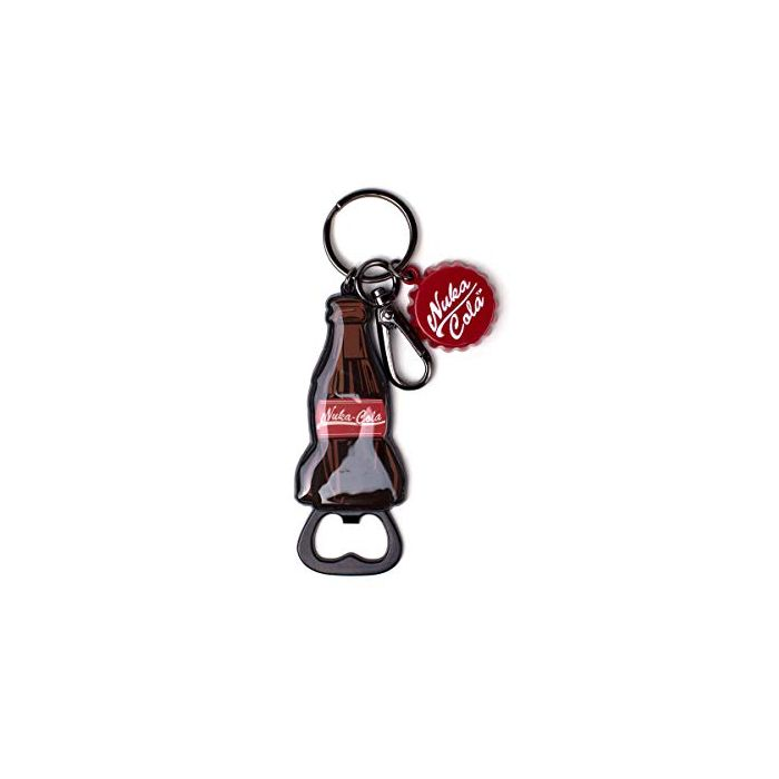 Fallout Nuka-Cola Cap Novelty Bottle Opener Metal Keychain, 16 cm, Brown (New)