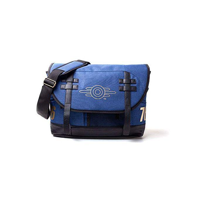 Fallout 76 Vault-Tec Logo Messenger Bag (Blue) (New)