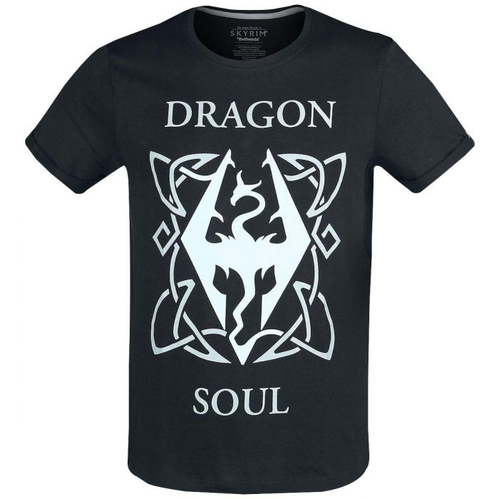 The Elder Scrolls - Dragon Soul Men's T-Shirt (XXL) Black (New)