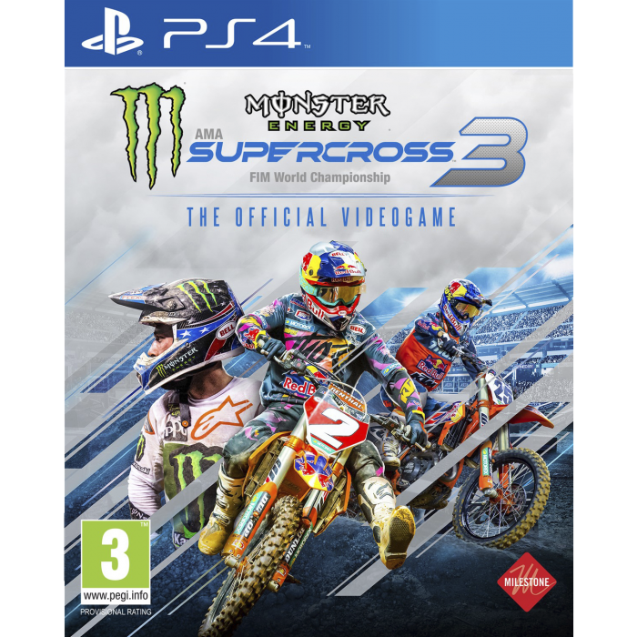 Monster Energy Supercross - The Official Game 3 (PS4) (New)