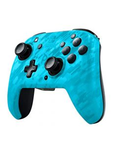 PDP Controller Faceoff Deluxe+ Audio Wireless Switch Camo Blue (New)