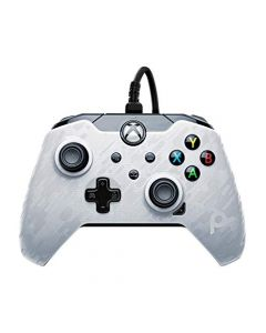PDP Controller Wired (Xbox Series X) (White Camo) (New)