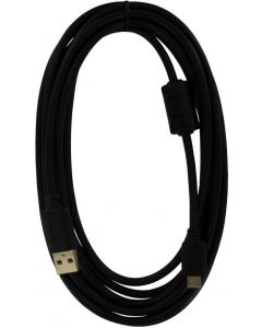 ZedLabz Pro (Gold Plated) 3M Extra Long USB Charge Cable  (PS4) (New)