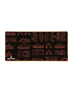 Konix World of Tanks MP-25 XXL Gaming Mousepad Mat with Rubber Texture Grip - Multicoloured (New)