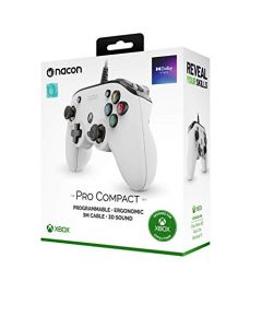 Nacon Pro Compact Wired Controller (White) (Xbox X-S / One)(New)