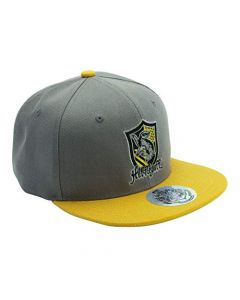ABYstyle Harry Potter Snapback Cap Grey and Yellow Hufflepuff (New)