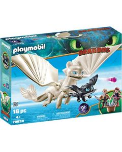 Playmobil 70038 DreamWorks Dragons, Light Fury with Baby Dragon and Children (New)