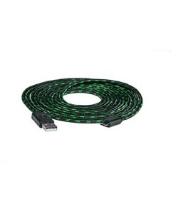 Snakebyte USB Mesh Charge Cable Pro Elite Controller - 4m - Black-Green (Xbox One/PS4) (New)