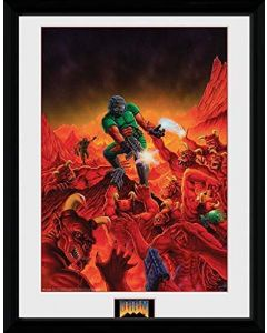 GB eye Ltd, Doom, Classic Key Art, Framed Photograph, (16x12), Wood, Various, 52x44x3 cm (New)
