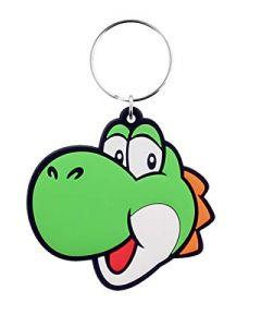 Pyramid International Super Mario (Yoshi) Rubber Keychains, Green, One Size (New) (New)