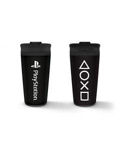 Pyramid International MTM25993 Playstation (Onyx) Metal Travel Mug (New)