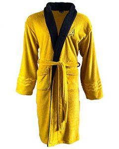 Groovy Men's Bathrobe Dressing Gown Robe Star Trek Mustard Kirk Official Merch, Yellow, One size (New)