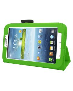 Samrick Executive Specially Designed Leather Book Folio Wallet Case with Exclusive Viewing Stand, Screen Protector, Microfiber Cloth, High Capacitive Mini Stylus Pen for 7 inch Samsung Galaxy Tab 3 P3200/P3210 - Green (New)