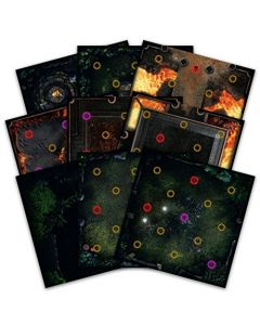 Dark Souls: The Board Game - Darkroot Basin and Iron Keep Tile Set (New)