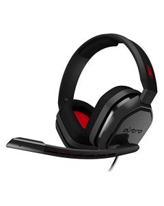 ASTRO Gaming A10 Wired Gaming Headset, Lightweight and Damage Resistant, ASTRO Audio, Dolby ATMOS, 3.5 mm Audio Jack for Xbox Series X|S, Xbox One, PS5, PS4, Switch, PC, Mac, Mobile - Black/Red (New)