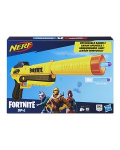 Nerf Fortnite SP-L Blaster with Detachable Barrel and 6 Official Fortnite Elite Darts for Youth, Teens, Adults (New)