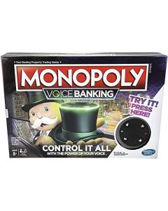 Monopoly Voice Banking Electronic Family Board Game for Ages 8 and up (New)