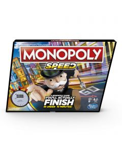 Monopoly Speed Board Game, Play Monopoly in Under 10 Minutes, Fast-Playing Monopoly Board Game for Ages 8 and up, Game for 2-4 Players (New)