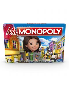 MS. Monopoly Board Game; First Game Where Women Make More Than Men; Features Inventions By Women; Game for Families and Kids Ages 8 and up (New)