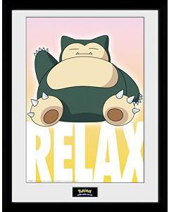 "Pokemon Snorlax Framed Print 16"" x 12"" (New)"