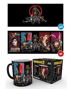GB Eye Limited Borderlands 3 Characters 10oz 300ml Breakfast Coffe Heat Changing Ceramic Mug (New)