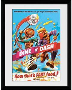 Fortnite Dine n Dash 30 x 40 cm Framed Print (New)