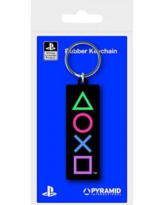 Pyramid International Playstation (Shapes) Rubber Keychains, Multi, One Size (New)