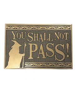 Pyramid Lord Of The Rings: You Shall Not Pass Rubber Mat (Zerbino) Merchandising (New)