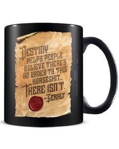 The Witcher (Philosophy On Destiny) Black Pod Mug /Merchandise (New)
