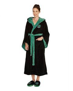 Groovy Uk Harry Potter Slytherin Womens Fleece Bathrobe (New)