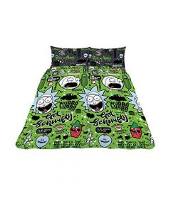 """CnA Stores - Rick and Morty Single Duvet Cover Set """"Get Schwifty"""" Reversible Bedding (New)"""