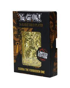 Fanattik KON-YGO26G Yu-Gi-Oh-Limited Edition 24K Gold Plated Collectible Exodia The Forbidden One (New) (New)