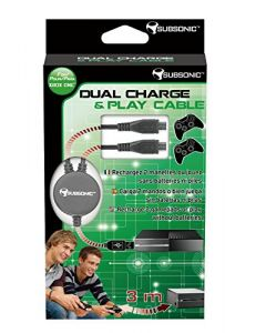 SUBSONIC - Dual Charge and Play Cable (Xbox One) (New)