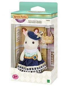 Sylvanian Families 6002 Chocolate Rabbit Town Girl Series Playset, New Town Series (New)