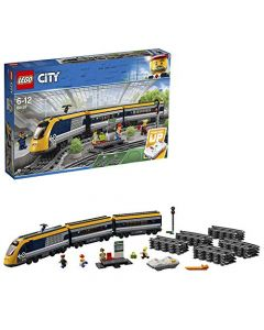 LEGO 60197 City Trains Passenger Train Set, Battery Powered Engine, RC Bluetooth Connection, Tracks and Accessories (New)