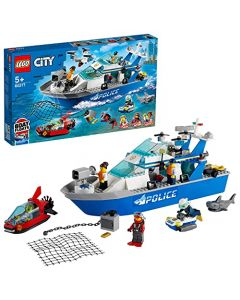LEGO 60277 City Police Patrol Floating Boat and Drone Toy (New) (New)