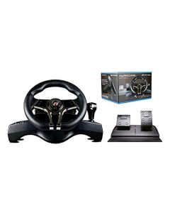 Hurricane MKII Steering Wheel with Gear Shift (PS3, PS4, PC & Switch) (New)