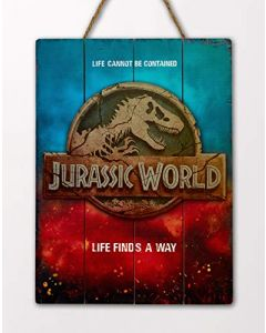 Doctor Collector DCJW09 Jurassic World Life Finds A Way WoodArts 3D Print (New)
