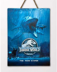 Doctor Collector DCJW10 Jurassic World The Park is Open WoodArts 3D Print (New)
