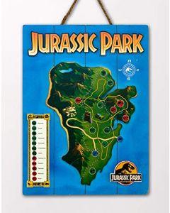 Doctor Collector DCJP16 Jurassic Park Isla Nublar Map WoodArts 3D Print (New)
