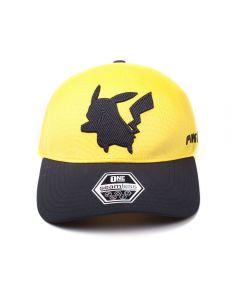 POKEMON Pikachu Silhouette Curved Bill Cap, Yellow/Black (TC213310POK) (New)